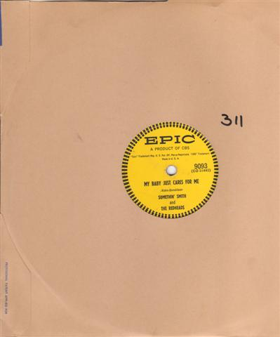 SOMETHING SMITH - MY BABY CARES - EPIC 9093 [ 311