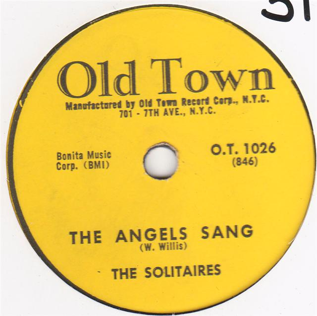 THE SOLITAIRES - YOUVE SINNED - OLD TOWN 1026 { 313