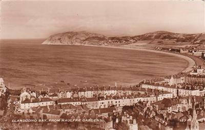LLANDUDNO BAY , FROM HAULFRE GARDENS Real Photo