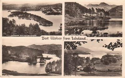 BEST WISHES FROM LAKELAND - Real Photo