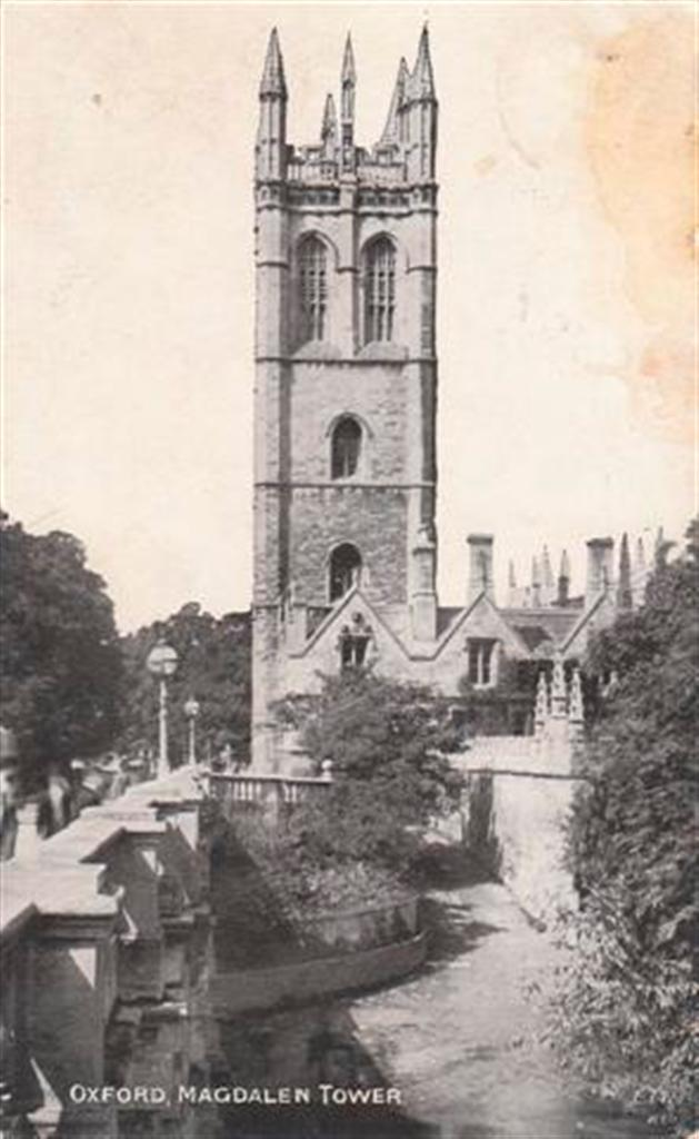OXFORD MAGDALEN TOWER - 1909