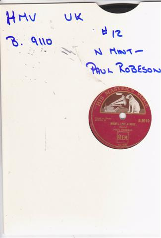 PAUL ROBESON - MIGHTY LIKE A ROSE - HMV 2109