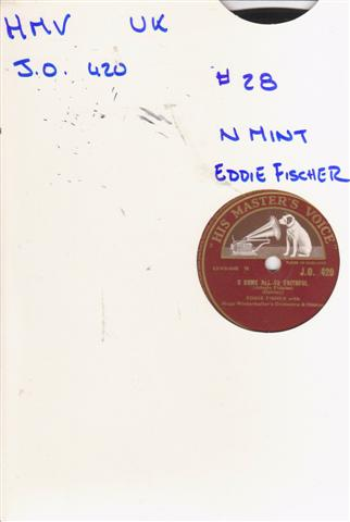 EDDIE FISHER - SILENT NIGHT - HMV 1566