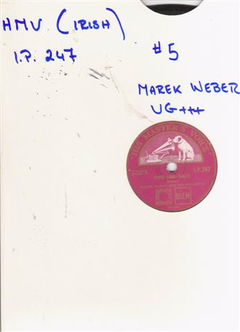 MAREK WEBER - GYPSY LOVE - IRISH HMV 2115