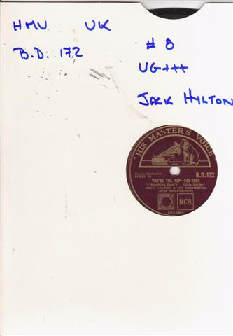 JACK HYLTON - ANYTHING GOES - HMV 2112
