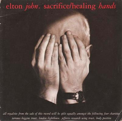 ELTON JOHN - SACRIFICE - 1989 PS { 96