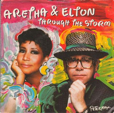 ELTON JOHN & ARETHA FRANKLIN - 1989 PS { 100