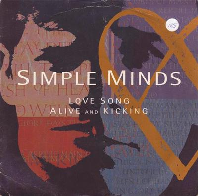 SIMPLE MINDS - ALIVE KICKING - 1992 PS { 125