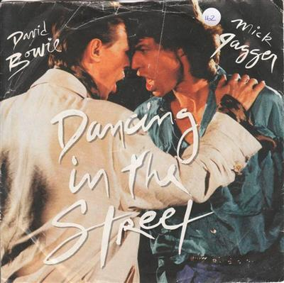 DAVID BOWIE & MICK JAGGER - DANCING IN STREET 1985 PS { 162