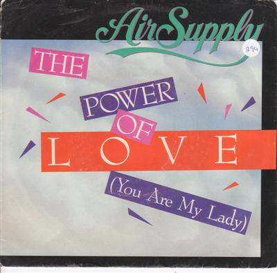 AIR SUPPLY - THE POWER OF LOVE - ARISTA 1985