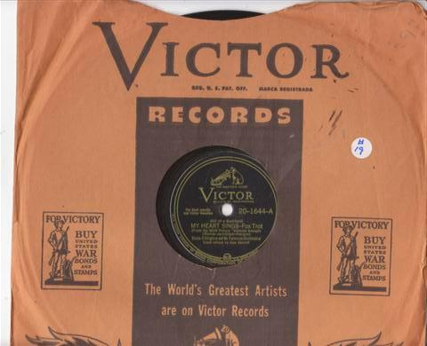 DUKE ELLINGTON - MY HEART SINGS - RCA 20-1644 { 19