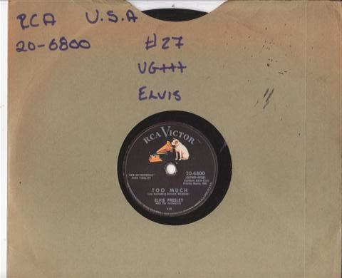 ELVIS PRESLEY - TOO MUCH - RCA VICTOR 20 6800 { 27