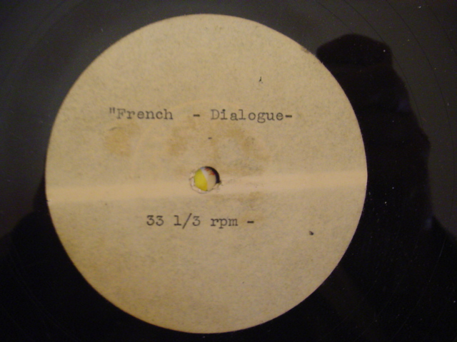 UNKNOWN ARTIST - FRENCH DIALOGUE - ACETATE