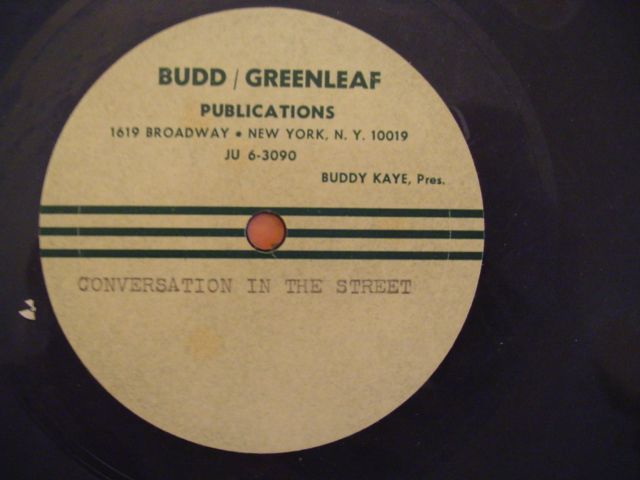 BUDDY KAYE PRODUCTION - CONVERSATION IN THE STREET -