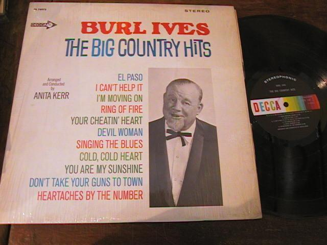 BURL IVES - BIG COUNTRY HITS - DECCA { AF 235