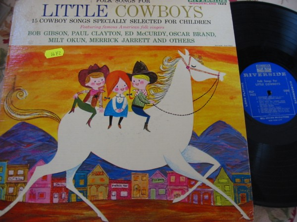 VARIOUS FOLK - LITTLE COWBOYS - RIVERSIDE RECORDS