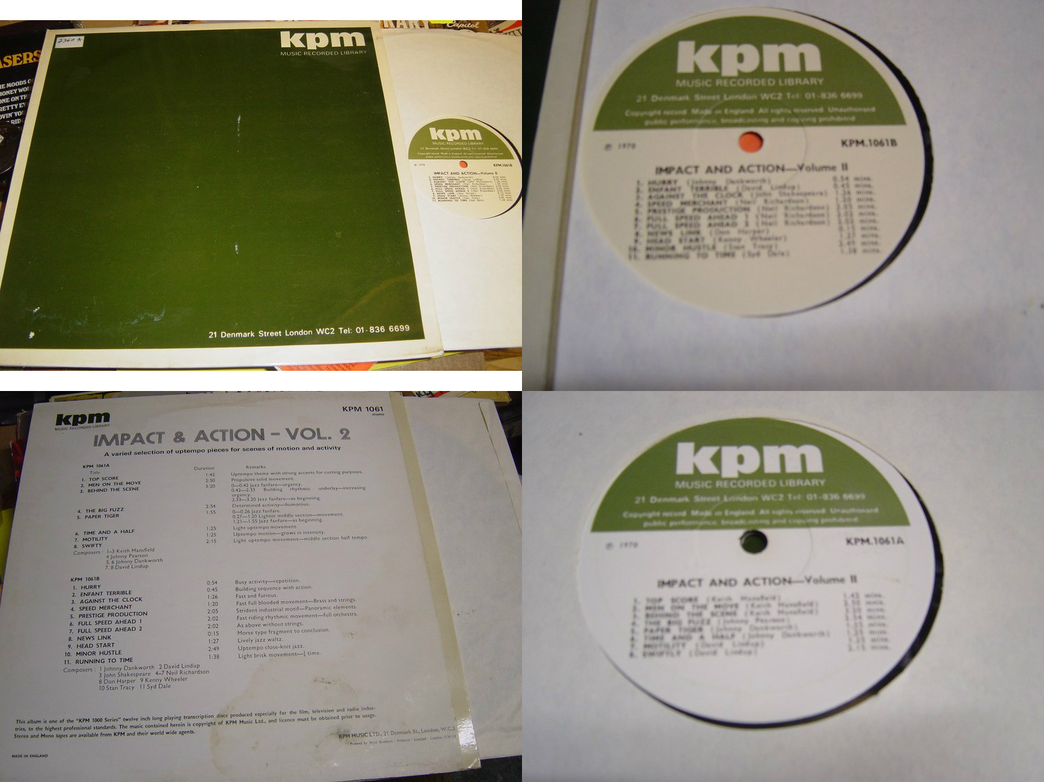 KPM 1061 - Impact & Action Vol 2 - Mansfield Breaks Funk