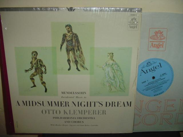 MENDELSSOHN - MIDSUMMER' NIGHT - KLEMPERER ANGEL