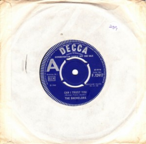 The Bachelors - Can I trust you - Decca Demo 1966