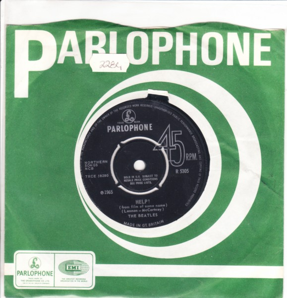 THE BEATLES - HELP - Parlophone R 5305 - 2284