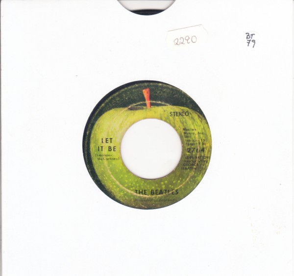 THE BEATLES - LET IT BE - APPLE 2764 - { 2290