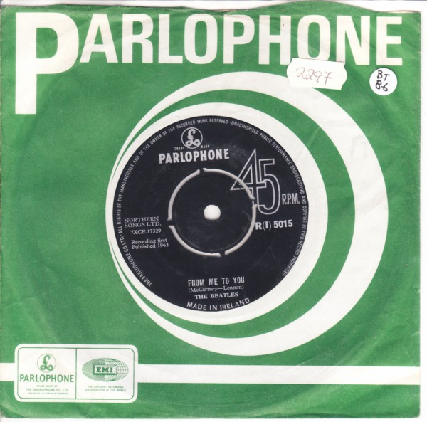 THE BEATLES - IRELAND Parlophone R {I} 5015 - { 2297