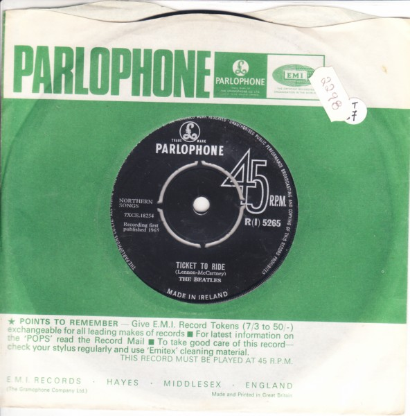 THE BEATLES - IRELAND Parlophone R {I} 5265 - { 2298