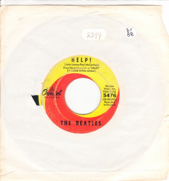 THE BEATLES - HELP - USA CAPITOL 5476 { 2299