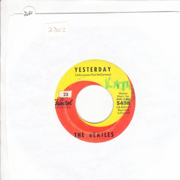 THE BEATLES - YESTERDAY - USA CAPITOL 5498 - { 2302
