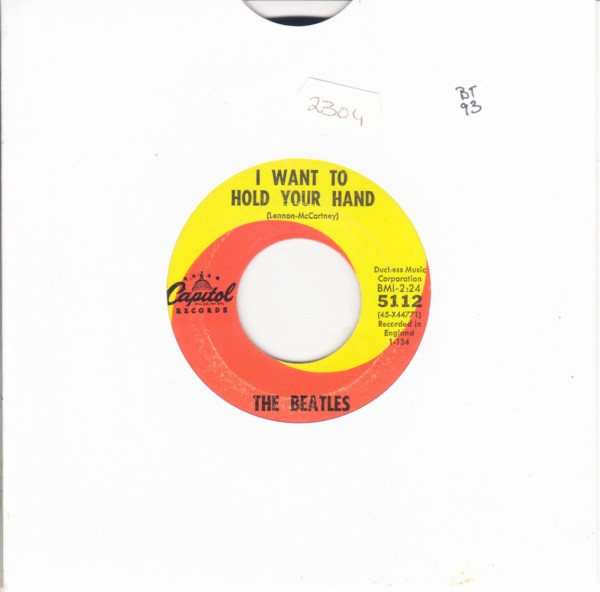 THE BEATLES - HOLD YOUR HAND - USA CAPITOL 5112 { 2304