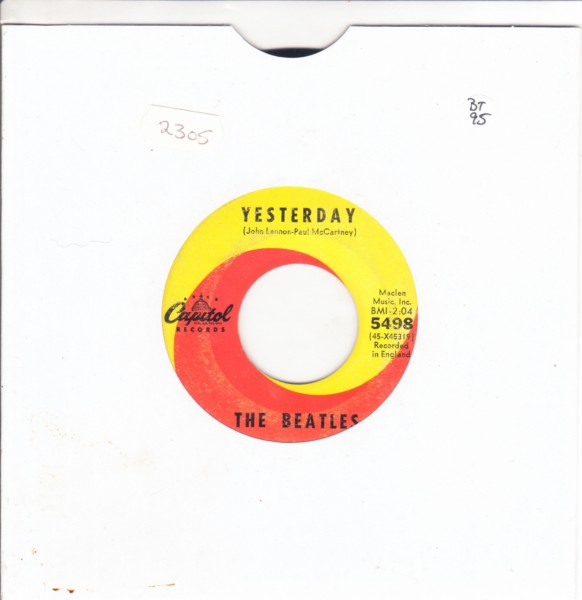 THE BEATLES - YESTERDAY - USA CAPITOL 5498 - { 2305