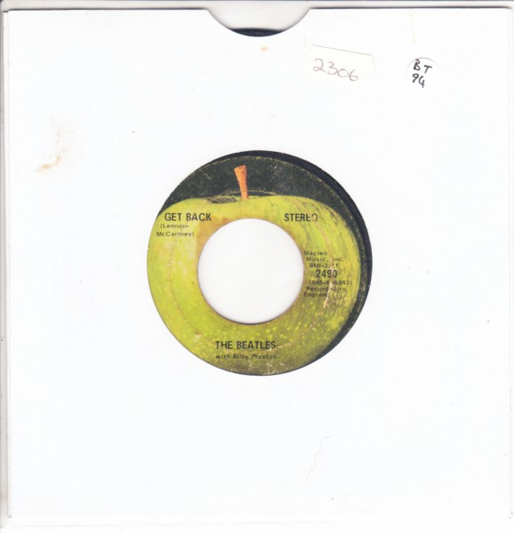 THE BEATLES - GET BACK - USA APPLE 2490 { 2306