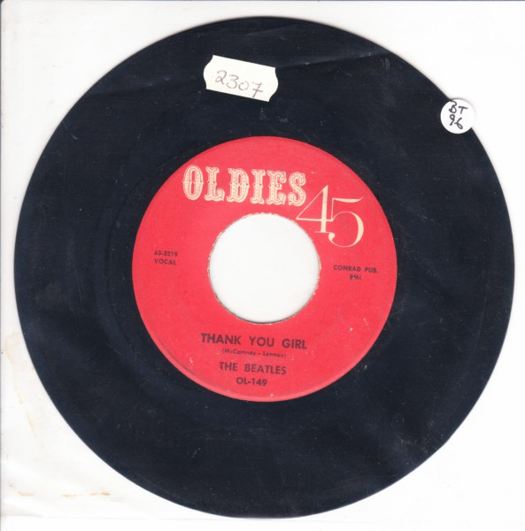 THE BEATLES - THANK YOU GIRL - USA OLDIES OL 149 { 2307