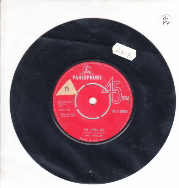 THE BEATLES - IRELAND Parlophone Red Labe R {I} 5055
