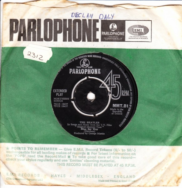 THE BEATLES FOOL ON THE HILL - PARLOPHONE MMT B1