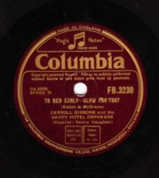 CARROLL GIBBONS - TO BED EARLY - COLUMBIA - 78 RPM