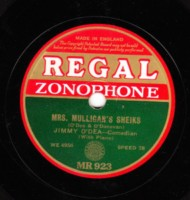 JIMMY O'DEA HARRY O'DONOVAN - REGAL 78 RPM