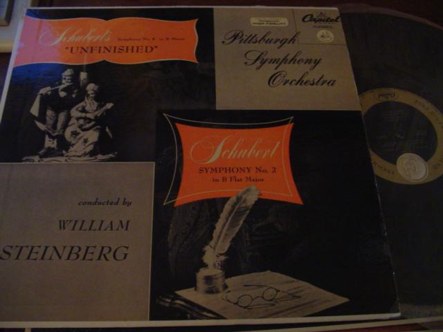 SCHUBERT - UNFINISHED - STEINBERG - CAPITOL
