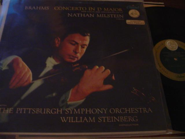 NATHAN MILSTEIN - BRAHMS - VIOLIN CONCERTO - CAPITOL