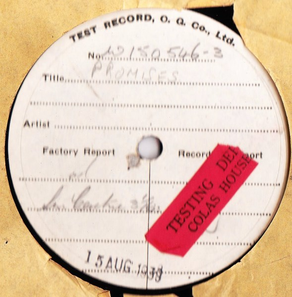 Test Pressings & Demo's 78's