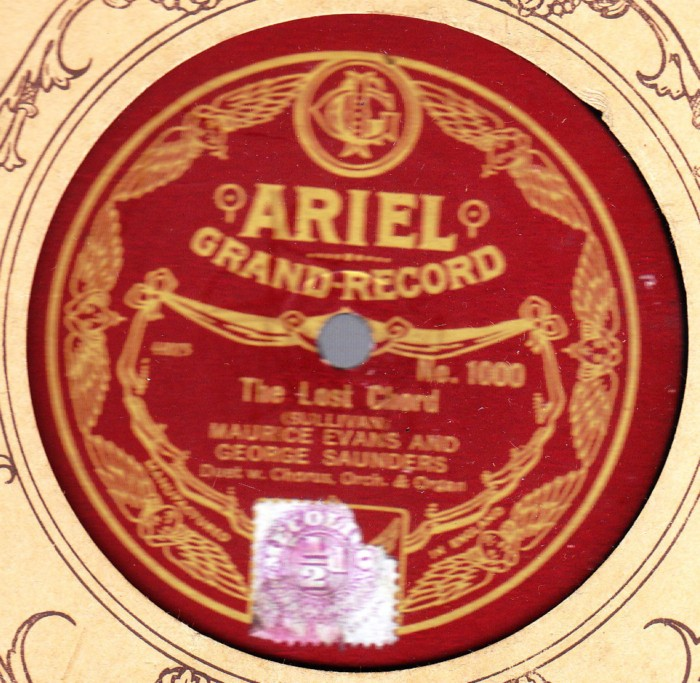 Ariel Record Label 78 Rpm