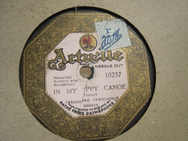 Actuelle Record Label 78 Rpm