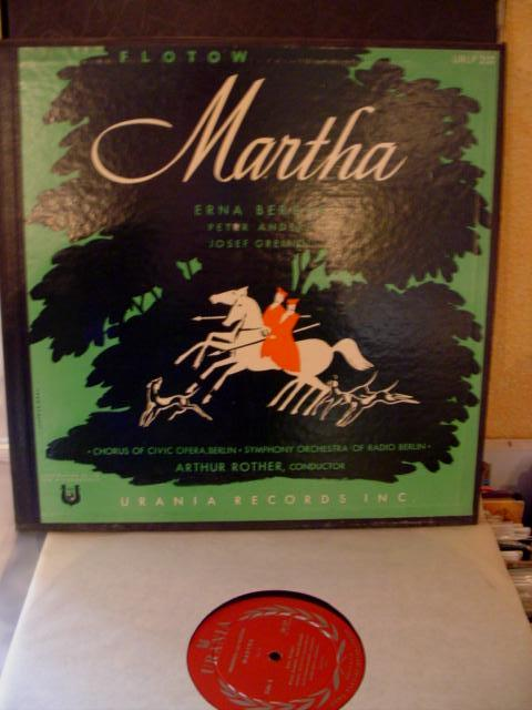 FLOTOW - MARTHA - BERGER - ROTHER - URANIA 3LP SET