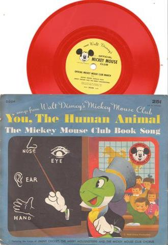 YOU The HUMAN ANIMAL - MICKEY MOUSE RECORDS