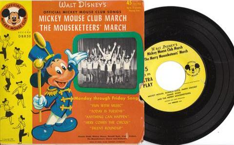 MOUSEKETEERS - MICKEY MOUSE RECORDS # 63 - 45 RPM