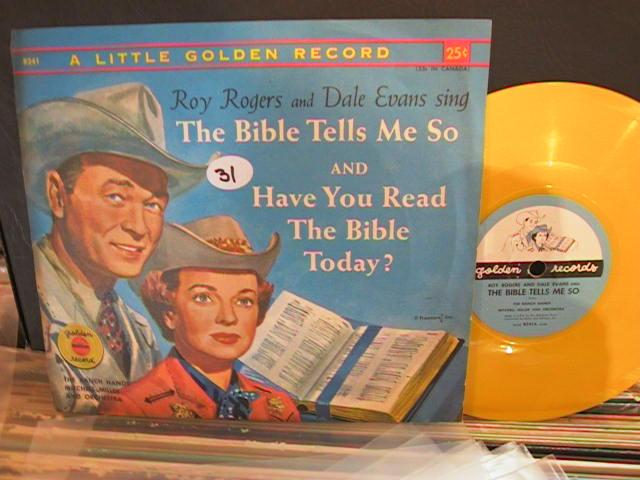 DALE EVANS ROY RODGERS - BIBLE - GOLDEN RECORDS # 31