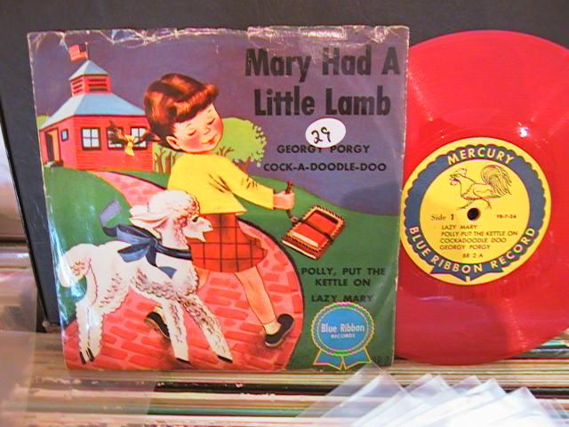 MARY LITTLE LAMB - BLUE RIBBON RECORDS # 29