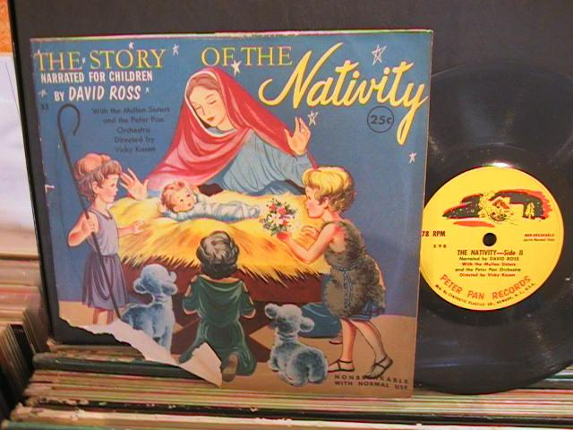 STORY OF NATIVITY - PETER PAN RECORDS - 78 RPM