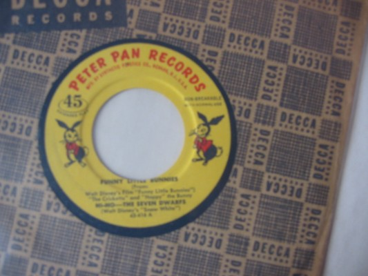 FUNNY LITTLE BUNNIES - PETER PAN RECORDS
