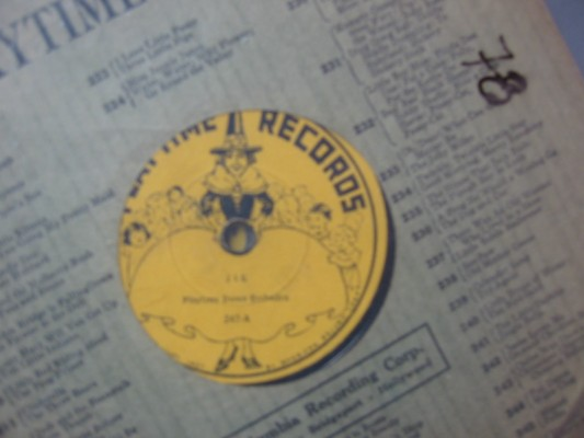CHILDRENS MARCH - PLAYTIME RECORDS - # 78 - 78 RPM